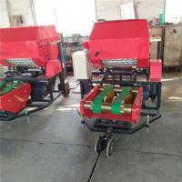 全自动玉米秸秆打包机柴油机动力秸秆打捆包膜机