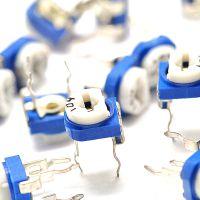 蓝白可调电阻 卧式103 10K 电位器 (10只)