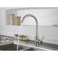 金士佧卫浴厨房304不锈钢台盆水龙头冷热水槽洗菜盆360°旋转无铅