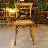 麦德嘉MDJ-ZT06胡桃里家具桌椅 咖啡厅西餐厅全实木餐椅子美式乡村餐桌椅