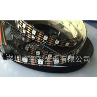 厂家供应APA102 5050RGB灯条 60灯/米滴胶IP65防水 DC5V 白板/黑板 幻彩灯条