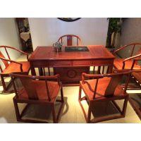 山西红木家具办公室1.6米茶台最新价格刺猬紫檀
