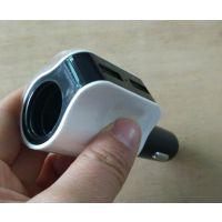 多功能手机汽车通用车充点烟器2A 双USB 车载充电器接导航记录仪