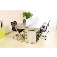 深圳厂家办公家具职员办公桌椅现代简约电脑桌屏风办公桌4人位员工桌