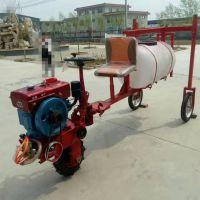潢川县玉米杀虫喷雾器 启航牌手推辣椒拉管喷药机 高杆作物打药机厂家