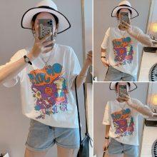 广州夏季便宜男女装批发便宜t恤女装短袖批发韩版大版T恤棉