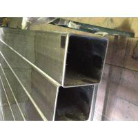 201不锈钢大口薄壁方管、拉丝不锈钢装饰大口径方管