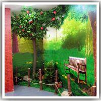 广东厂家供应 仿真苹果树 幼儿园装饰仿真果树 假苹果树