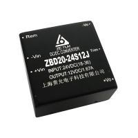 上海责允2:1宽压输入24V转12V,20W电源模块,小体积dc转dc军品模块电源3W/5W/10W