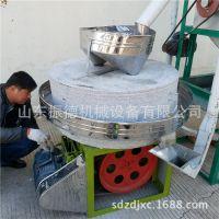 电动肠粉米浆石磨 振德 五谷杂粮石磨机 定做面粉石磨机
