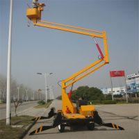 三明曲臂式高空作业平台车,16米曲臂式液压升降机,升降平台