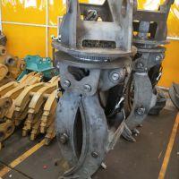 沃尔沃215 挖机液压五齿360度旋转夹具 夹石器厂家