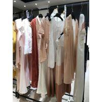 上海时尚休闲女装尘色18年春装品牌折扣女装货源走份