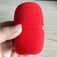 东莞辉晟海绵厂家生产各种规格的海绵话筒套KTV一次性麦克风海绵话筒套 海绵咪套