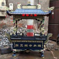 供应庙宇长方形四龙柱香炉铸铁道观佛寺香炉哪里批发