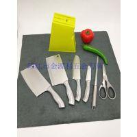 阳江不锈钢刀具厂家直销 全钢厨房刀具组合7件套