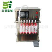 小型自立袋灌装机 牛奶吸嘴袋半自动灌装机 豆浆袋装分装机