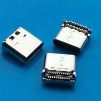 贴板USB 3.1母座type-C 双排端子SMT全贴24P 两脚L=8.47mm带柱