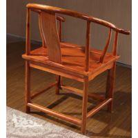 中式官帽椅 实木办公休闲太师椅