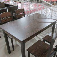海德利 简约乡村 老榆木漫咖啡桌椅 古典时尚实木餐桌椅组合