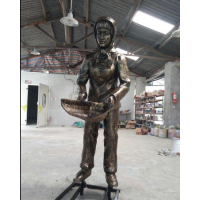福建公园农耕人像雕塑玻璃钢农耕人物雕像图片