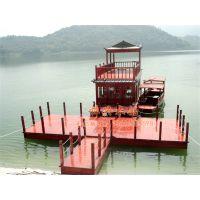 12米景区双层画舫船 电动餐饮船 水上观光船 画舫木船 休闲旅游船