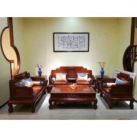 名琢世家刺猬紫檀古典客厅沙发123六件套组合价格图片