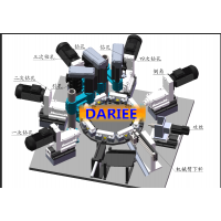 螺纹钢自动钻孔攻丝机,建筑预埋件吊装件钢筋套筒机,螺纹钢专机