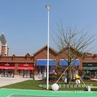 云南小学球场灯杆高度 体育场馆灯光照明 柏克防水灯杆价格怎么样