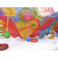 绳网艺术我们志在引领起航游艺彩虹绳网七彩树彩虹迷宫