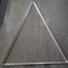 定制各种规格铝板网 三角形铝合金板网吊顶_欧百得