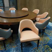南京度假酒店包厢家具定制 会所新中式餐桌椅休闲餐椅