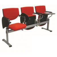 麦德嘉MF-025D供应现代带写字板连体排椅多人位彩色塑料培训椅公司会议座椅