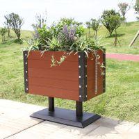 户外防腐木可定制移动花箱长方形园林种植绿化实木花箱