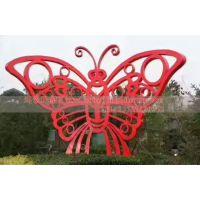 不锈钢蝴蝶雕塑 镂空不锈钢蝴蝶雕塑 抽象动物蝴蝶雕塑