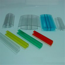 阳光板铝合金压条-PC阳光板压条配件-H型连接件PC收边厂家