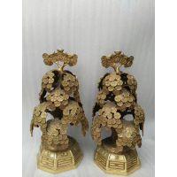 供应定制加工铜雕摆件摇钱树