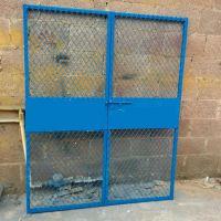 电梯防护门定做@工地预留洞口施工围栏@现货井口防护门