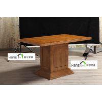 上海SH-117素菜餐厅桌子椅子订做 古典中式餐厅桌椅定制 韩尔定制品牌