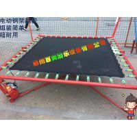 江西萍乡儿童钢架弹跳床,公园里经营的方形单人蹦极怎么卖?