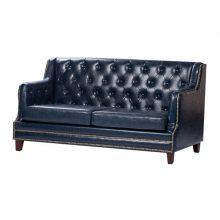 北欧实木扶手卡座沙发,咖啡馆双人位沙发定做