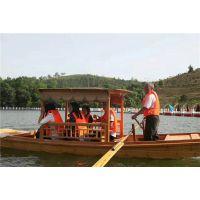 哪里有水上观光船 木质景观单品船 公园手划船 仿古摇橹船