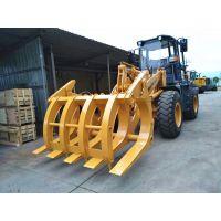 福建龙圣重工3吨5吨6吨装载机抓木机50/60铲车抓木夹子价格