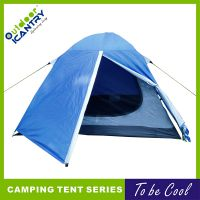 旷野户外双层防暴雨3-4人大空间带前厅帐篷