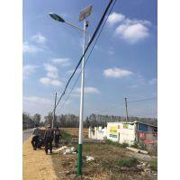 江苏省宿迁市泗阳县王集镇 12V 6米21瓦海螺臂太阳能路灯工程案例