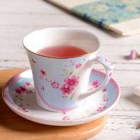 咖啡杯套装手绘创意花卉 欧式家用陶瓷高档杯碟下午茶茶具批发