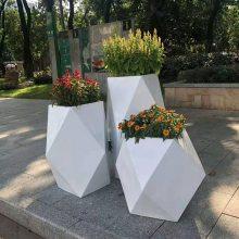 创意现代简约玻璃钢商场组合插花花盆花器花箱 广州玻璃钢雕塑花盆