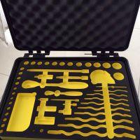 黑色eva海棉工具箱内衬包装定做开槽挖孔挖模成形雕刻内衬