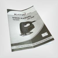 常州大学印刷厂 铜版纸黑白说明书 英文资料产品手册说明书定制