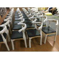 沈阳实木桌椅,欧式西餐厅牛角椅生产厂家